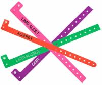 دستبند شناسایی بیمار علائم ریسک بیمار – دستبند بیمار FALL RISK, ALLERGY, LATEX ALLERGY, LIMB, DNR